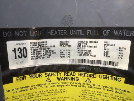 Gas Water Licht : Rheem gas water heater building materials gumtree australia