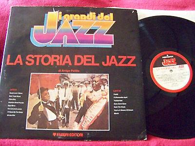 I grandi del Jazz - La storia del Jazz    italienische LP im FOC with book
