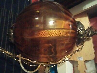 Large vintage amber swag light