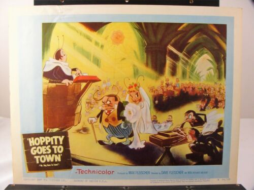 2 Great original Lobby Cards from Hoppity Goes to Town Fleischer Studios