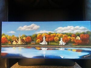 3 Churches Painting