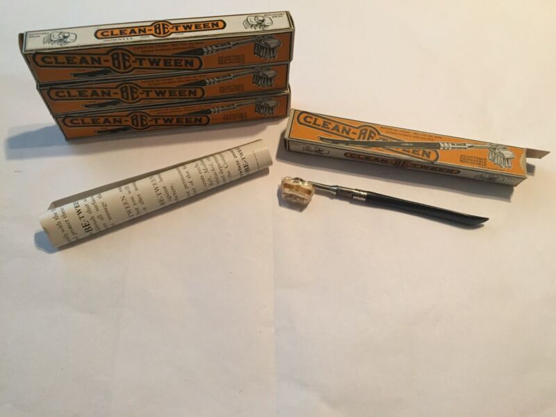 Rare Unused Vintage Toothbrushes by the Clean-Be-Tween Co. Copyright Dated 1927