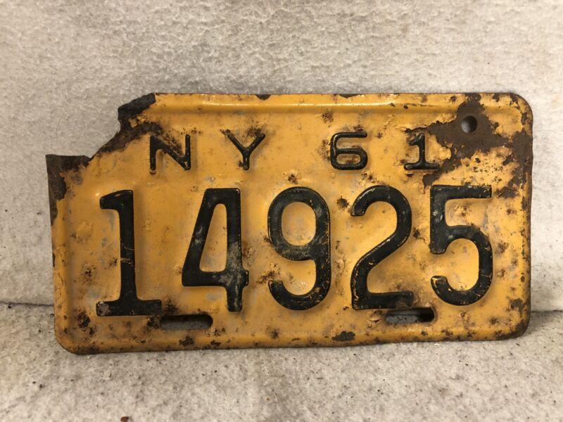 Vintage 1961 New York Motorcycle License Plate