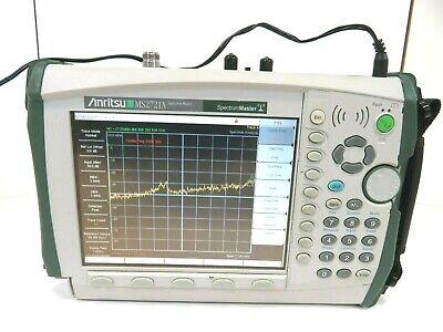 Anritsu Ms2721a Handheld Spectrum Master Analyzer 100khz-7.1ghz