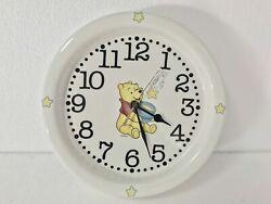 Vintage Disney Winnie The Pooh Wall Clock Honey Jar Hunny Ceramic Porcelain