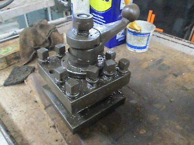 Manual Operation 4 Position 360 Rotating Lathe Tool Turret W1.5 Tool Opening