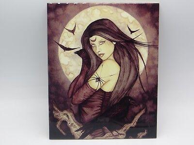 ALL HALLOWS EVE Ceramic Tile Jessica Galbreth 8x10 2005 Mythical Gothic Faerie