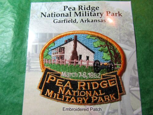 PEA RIDGE NATIONAL MILITARY PARK EMBROIDERED PATCH ARKANSAS TRAVEL  (455)