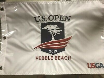 New Sealed 2019 Official U.S. Open Golf flag Pebble Beach Embroidered USGA Tiger