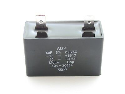 5 Mfd 250 Vac Cbb61 Motor Run Capacitor 5 Uf 250 Volt 5060hz Hvac Adp250e505j