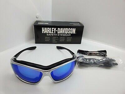 Harley Davidson Biker Riding Sunglasses Goggles Blue Mirror Tint