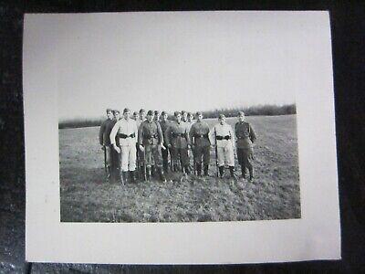 Original WWII German Kriegsmarine Soldiers Pose w/ Rifles Photo