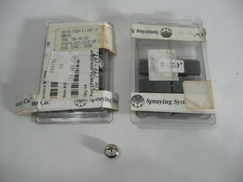 NEW 16 PCS SPRAYING SYSTEMS CO. CP56754-0525-SSENP ORIFICE INSERTS .0525 NOZZLES