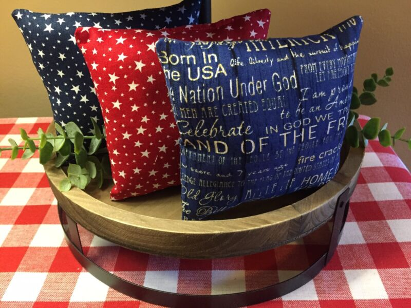 Mini Pillows for Tiered Trays, Bowl or Basket Fillers, Table Decor, Set of 3