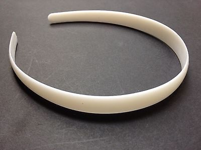 """Wholesale Lot 36 Girls or Womens 1/2"""" White Plastic Headbands Free US Shipping"""