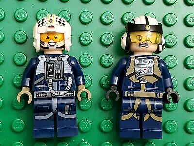 LEGO Star Wars U-Wing  Y-Wing Pilot Minifigure Lot of 2 Minifigures