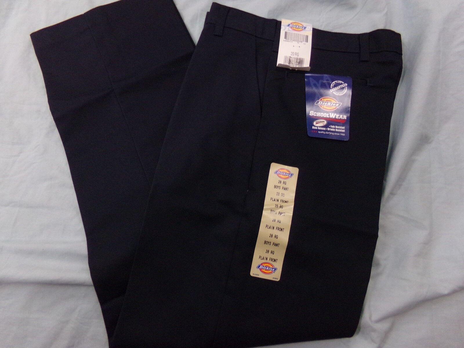 Dickies SchoolWear Boys Size 20 Reg Navy Blue Pants NEW Scho