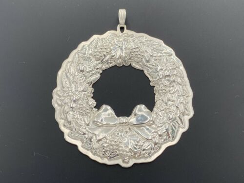 REED&BARTON STERLING SILVER 925 FRANCIS I 22ND EDITION CHRISTMAS WREATH ORNAMENT