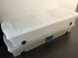 Under the bed storage containers - Rubbermaid