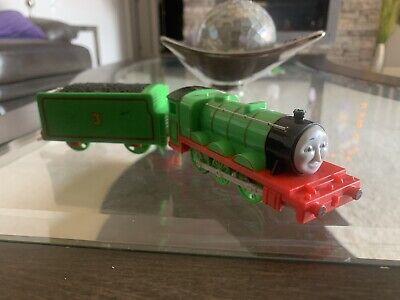 "RARE!! Trackmaster Thomas & Friends ""TALKING HENRY"" 2010 WORKING Motorized Train"