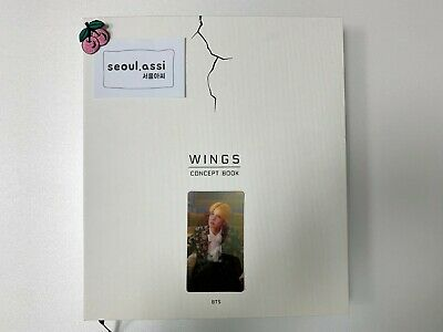 BTS Wings Concept Book J-Hope Lenticular Photo Card+2 Photo Frame Paper Rare