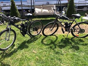 2 gas powered bicycles