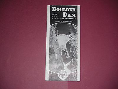 1937 Boulder Dam Brochure Pamphlet Hoover Dam