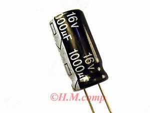 16V-1000uF-105-C-electrolytic-radial-Capacitor-X-6pcs