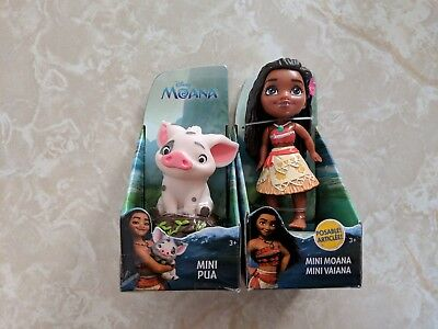 Disney Princess Toddler (Disney Princess Mini Toddler Doll MOANA Pua Pig Lot)