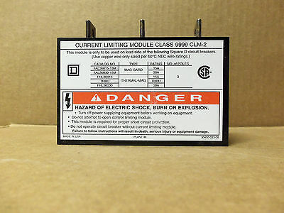 Square D Current Limiting Module Class 9999 Clm-2 15-30 Amp 9999clm2