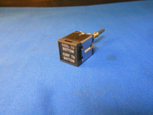 10620RA5-119 JAY EL PUSH LIGHT SWITCH RED LEGEND ON BLK   NEW OLD STOCK