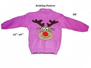 H M Reindeer Sweater Christmas-Rudolph-Rein...