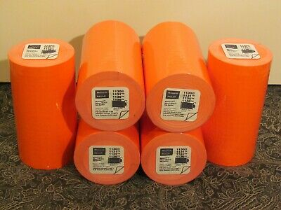 Monarchpaxar- Fl Red Labels For 1136 Pricinglabeling- Lot Of 6- Free Ship