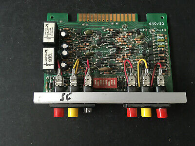 Spectronics 640s2 Fire Alarm Control Panel Zone Card Board