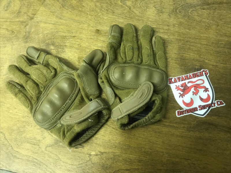 Coyote Brown Tactical Hard Knuckle Gloves Size Medium Hatch L2D