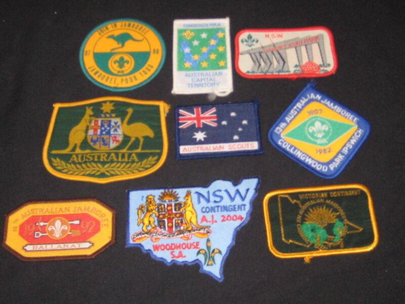 Australia Boy Scout patches, lot of 16   cjp  fx