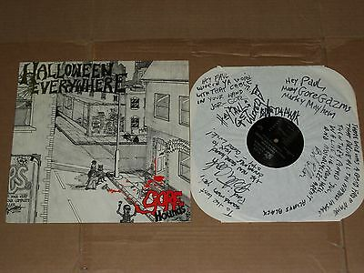 THE GORE HOUNDS halloween everywhere AUTOGRAPHED LP garage punk gorehounds - The Garage Halloween
