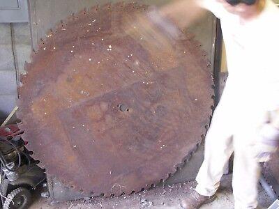 Large Sawmill Buzz Saw Blade 54 Diameter Solid Sawblade Steam Punk