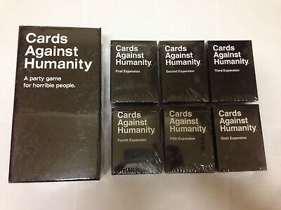 Final sale! Cards Against Humanity Base 2.0 + 6 expansions, free 3-day shipping