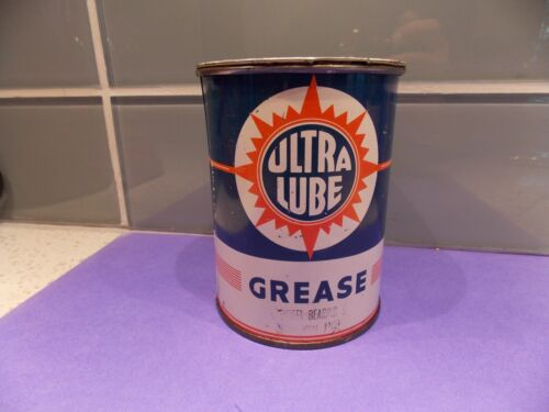 VINTAGE Ultra Lube 1 POUND CAN original lid wheel bearing grease. Nice condition