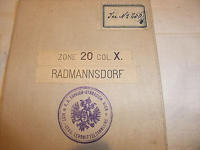 alte historische Landkarte Karte Radmannsdorf Zone 20 Col. X Österreich Leinen