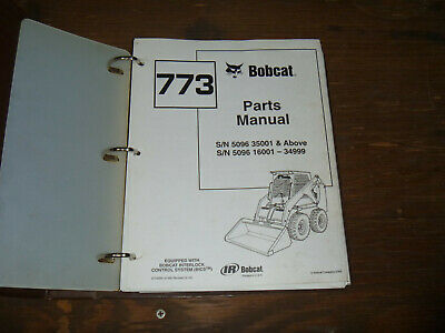 Bobcat Ingersoll Rand 773 Skid Steer Loader Parts Catalog Manual 5096 35001-