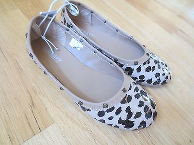 GIRL OLD NAVY LEOPARD SPOTS PRINT TAN PATENT FLATS SHOES NWT 12 2 Tan Patent Schuhe