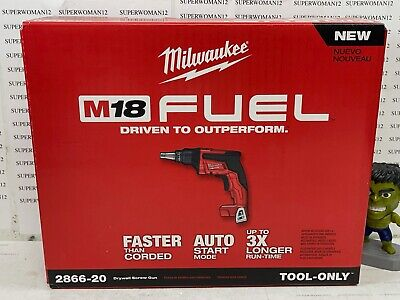New Milwaukee M18 Fuel Drywall Screw Gun Tool Only 2866-20