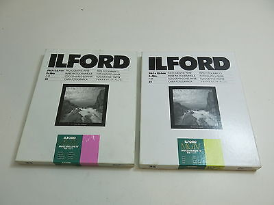 2 BOXES VINTAGE ILFORD PHOTOGRAPHIC PAPER 8X10 INCH SIZE MGIV MULTIGRADE IV FB F