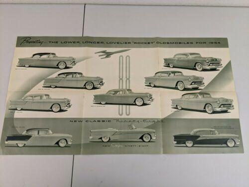 "1954 Oldsmobile ""SUPER 88-NINETY EIGHT-STARFIRE"" Car Dealer Showroom Brochure"