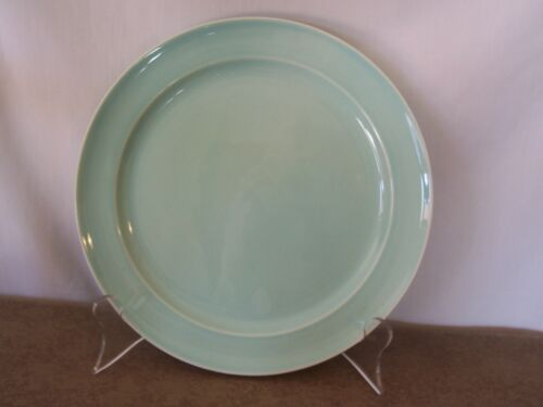 "Vintage Taylor Smith & Taylor LuRay Surf Green 10"" Dinner Plate !"
