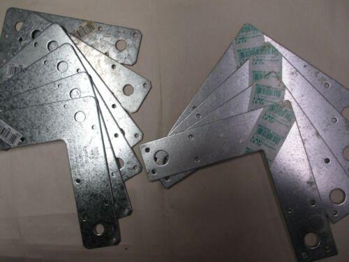 """10 MIXED Simpson/USP   6""""  L-Brackets. Galvanized.Wood, Deck, Structural,Connect"""