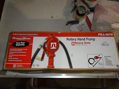 Fill-rite Fr112 Hand Pump Rotary Heavy Duty Nozzle With 8 Foot Hose Fuel Transfe