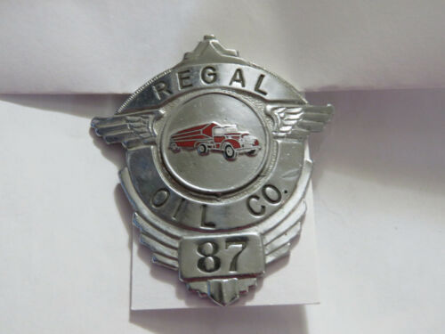 Regal Oil Company Tanker Truck Badge Brown  vintage Hat Pin